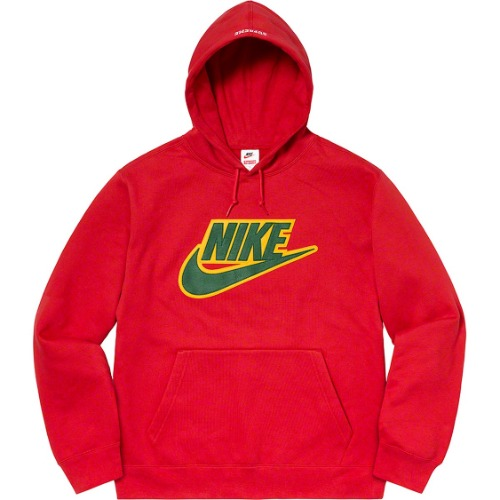 *국내배송* 슈프림 Supreme®/Nike® Leather Appliqué Hooded Sweatshirt RED