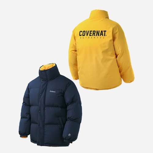 커버낫 숏패딩 COVERNAT REVERSIBLE DUCK DOWN PUFFER PARKA YELLOW