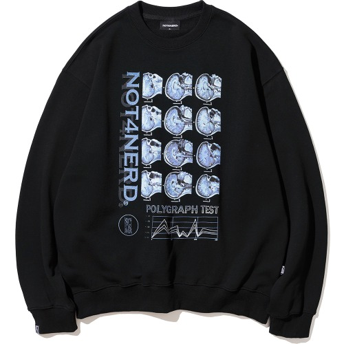 낫포너드 NOT4NERD - Polygraph Test Crewneck Black