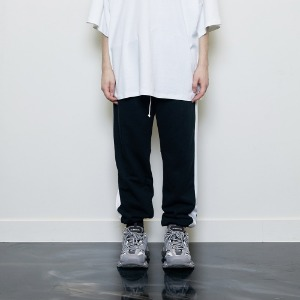 디프리크 D.PRIQUE - TRACK JOGGER PANTS BLACK/WHITE