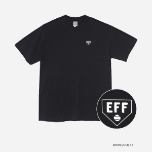 이벳필드 EBBETS FIELD - HOME BASE LOGO TEE BLACK