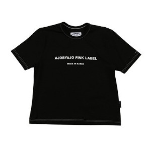 아조바이아조 AJOBYAJO - Logo Stich T-Shirt [Black]