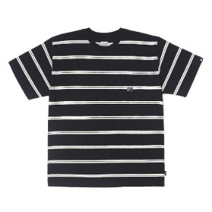 이벳필드 EBBETS FIELD - HEAVY WEIGHT NARROW STRIPE TEE BLACK