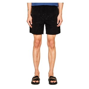 랩101 LAB101 - LJ1WHP01RE BLACK WRINKLE NYLON SHORTS