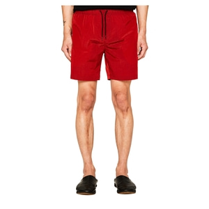 랩101 LAB101 - LJ1WHP01RE RED WRINKLE NYLON SHORTS