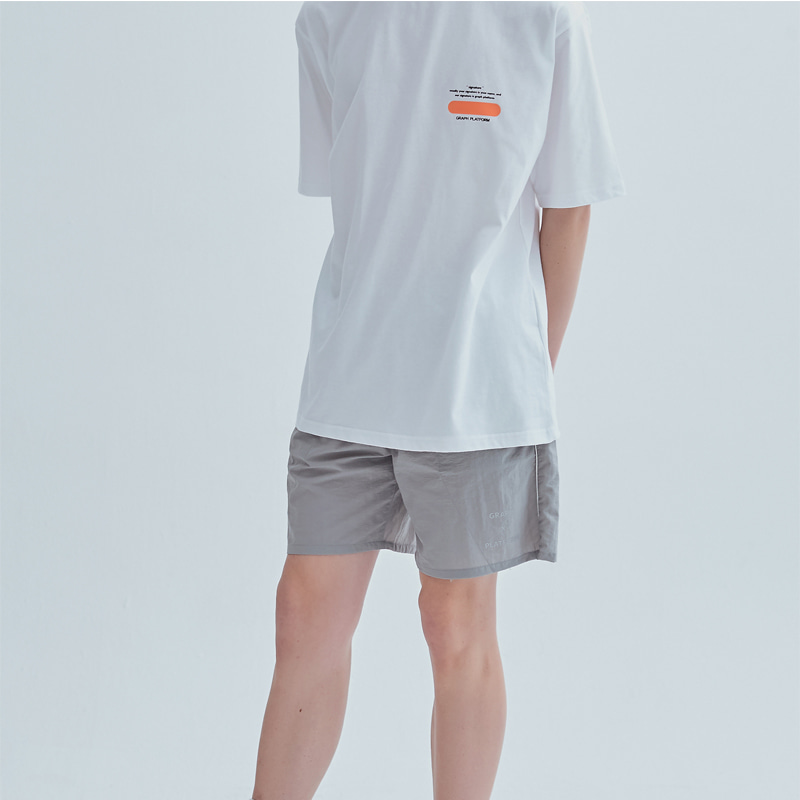 그래프플랫폼 GRAPHPLATFORM - GRPF logo scotch Pants Light gray