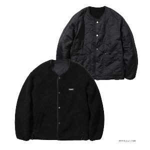 [커버낫] REVERSIBLE QUILTED FLEECE JACKET BLACK (오프라인판매)