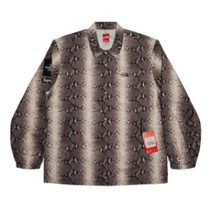 *국내배송* Supreme The North Face Snakeskin Taped Seam Coaches Jacket Black