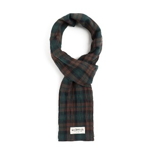 와일드 브릭스 WILD BRICKS - BG TARTAN CHECK STOLE (brown)
