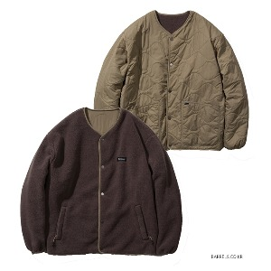 [커버낫] REVERSIBLE QUILTED FLEECE JACKET KHAKI (오프라인판매)