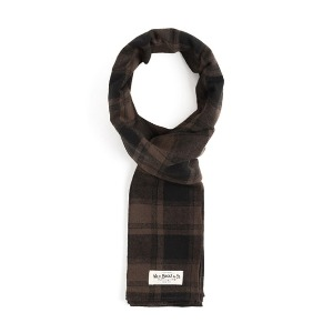 와일드 브릭스 WILD BRICKS - BNB TARTAN CHECK STOLE (black)
