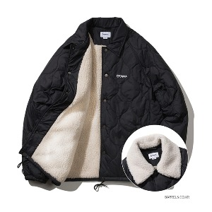 [커버낫] QUILTED BOA COACH JACKET BLACK (오프라인판매)