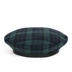 와일드브릭스 WILD BRICKS - WOOL BW CHECK FLAT BERET (green)