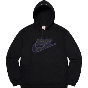 *국내배송* 슈프림 Supreme®/Nike® Leather Appliqué Hooded Sweatshirt BLACK