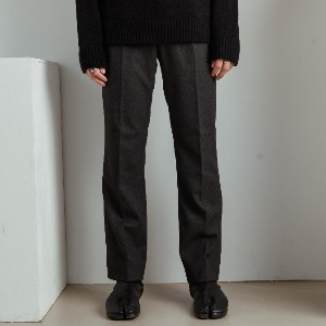 우니베르소 UNIVERSO - WOOL WIDE TROUSERS-GREY