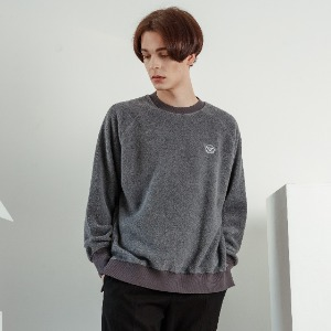 우니베르소 UNIVERSO - PLANET LOGO FLEECE CREWNECK-GRAY