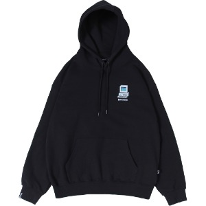 낫포너드 NOT4NERD - Dot Pc Mosaic Logo Pullover Hood [Black]