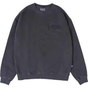 낫포너드 NOT4NERD - Pigment Wallet Label Crewneck [Dark Grey]