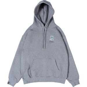 낫포너드 NOT4NERD - Dot Pc Mosaic Logo Pullover Hood [Grey]
