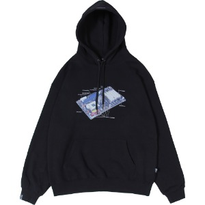 낫포너드 NOT4NERD - Mainboard Pullover Hood [Black]