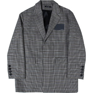 낫포너드 NOT4NERD - Card Wallet Oversized Blazer [Glen Check]