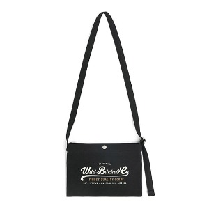 와일드 브릭스 WILD BRICKS - COTTON MINI CROSS BAG (black)