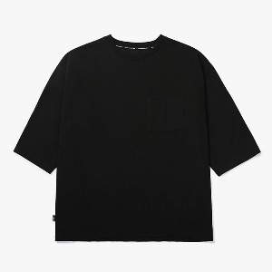 Muninnstation 뮤닌스테이션 - COTTON CAPRI TEE [BLACK]