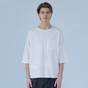 Muninnstation 뮤닌스테이션 - BOATNECK HALF TEE [WHITE]