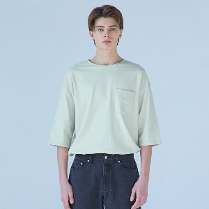 Muninnstation 뮤닌스테이션 - BOATNECK HALF TEE [MINT]