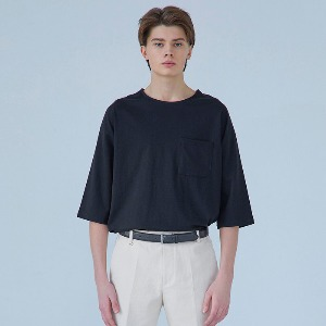 Muninnstation 뮤닌스테이션 - BOATNECK HALF TEE [BLACK]