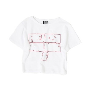 프리키쉬 빌딩 FREAKISH BUILDING - OUT SHORT SLEEVE CROP TEE (WHITE)