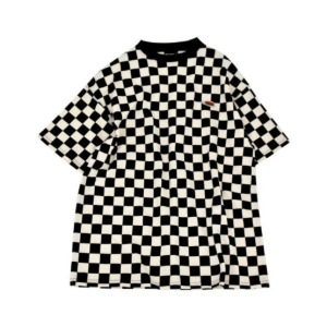 프리키쉬 빌딩 FREAKISH BUILDING - CHECKERBOARD SHORT SLEEVE TEE (BLACK)