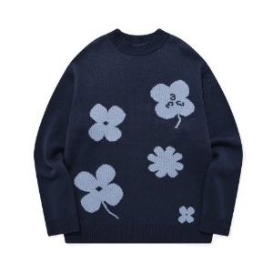 포스333 PHOS333 - Lucky Charms Knit Pullover/Navy