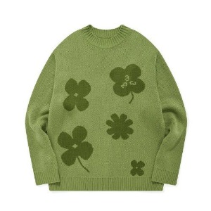 포스333 PHOS333 - Lucky Charms Knit Pullover/Green