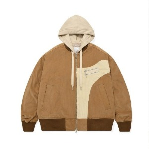 포스333 PHOS333 - V2 Layered Effect Bomber Jacket/Brown (오프라인판매)