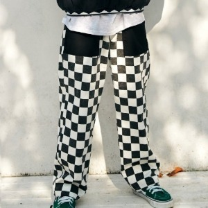 프리키쉬빌딩 - RON CHECKER LONG PANTS (BLACK)