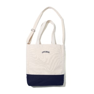 [커버낫] ​​SMALL ARCH LOGO 2WAY BAG NAVY (오프라인판매)
