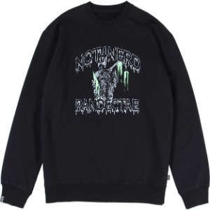 낫포너드 NOT4NERD - N-Justitia Crewneck [Black]