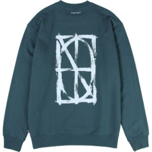 낫포너드 NOT4NERD - Brush Symbol Logo Crewneck [Olive]