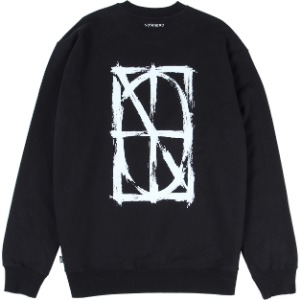 낫포너드 NOT4NERD - Brush Symbol Logo Crewneck [Black]