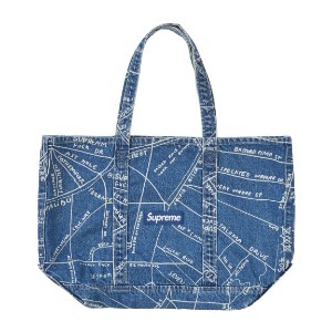 *국내배송* Supreme Gonz Map Denim Tote Washed