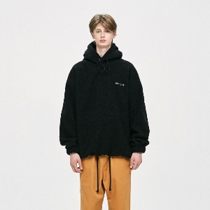 디프리크 DPRIQUE -   OVERSIZED FLEECE HOODIE - BLACK