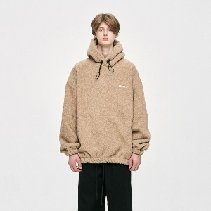 디프리크 DPRIQUE -   OVERSIZED FLEECE HOODIE - BEIGE