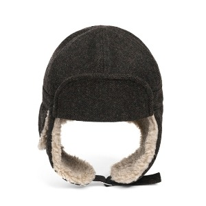 와일드브릭스 WILD BRICKS - HBT WOOL TRAPPER HAT (brown)