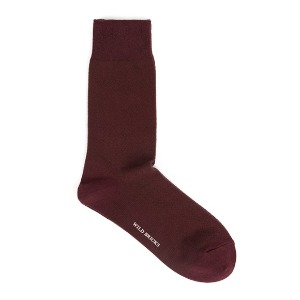 와일드브릭스 WILD BRICKS - HERRINGBONE DRESS SOCKS (burgundy)