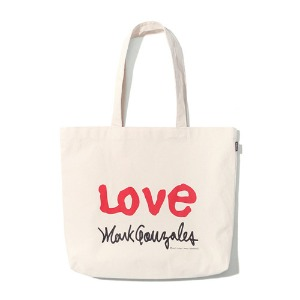 마크 곤잘레스 MARK GONZALES - M/G LOVE ECO BAG IVORY