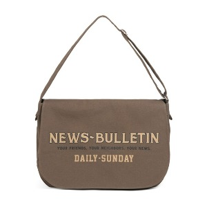 와일드 브릭스 WILD BRICKS - CANVAS NEWSBOY BAG (khaki)