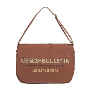 와일드 브릭스 WILD BRICKS - CANVAS NEWSBOY BAG (red brown)