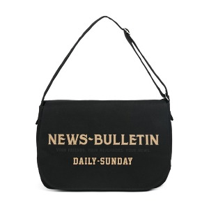 와일드 브릭스 WILD BRICKS - CANVAS NEWSBOY BAG (black)