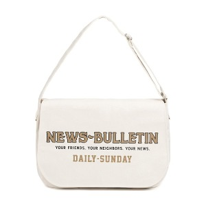 와일드 브릭스 WILD BRICKS - CANVAS NEWSBOY BAG (ivory)